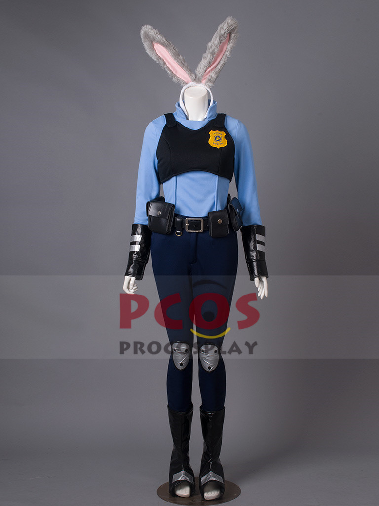 Judy Hopps outfits From Zootopia Zootropolis Cosplay Costume & Rabbit Ear mp003269