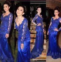 Vestidos de fiesta noche 2019 одежда с длинным рукавом «русалка» вечернее платье сделано Королевский синие платья на выпускной халат de soiree