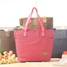 Multi-functional Outdoor folding cotton and linen receive package storage bag  32*25*11CM free shipping