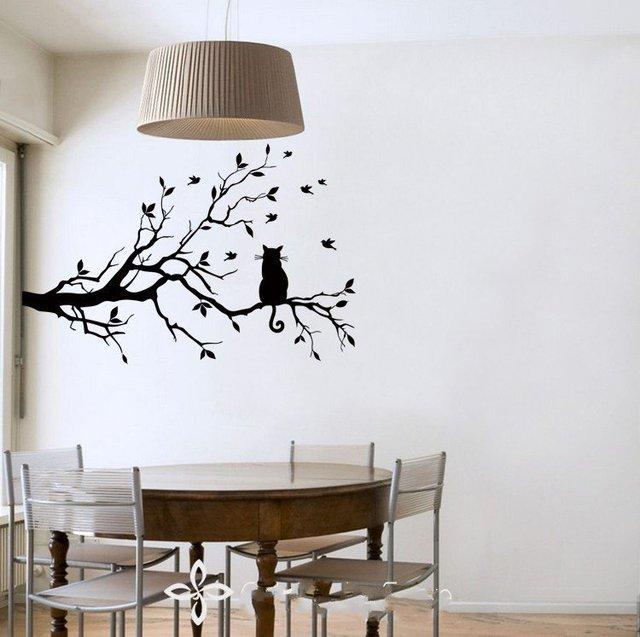 Comprar nuevo dise o gato largo rama de - Lo ultimo en decoracion de paredes ...