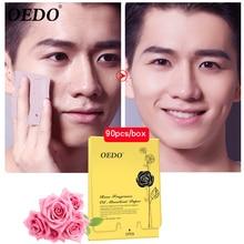 90 unids/caja OEDO Rosa aceite absorbente papel Facial limpieza profunda poro Control Facial-aceite de no daño de la piel mejora la grasa la piel