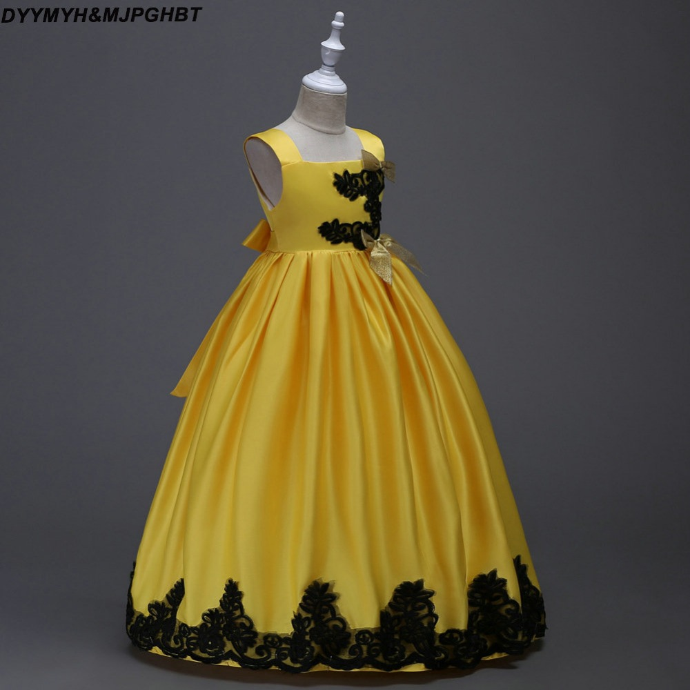 Inspired by Said Mhamad Kids Pageant Gowns Long Sleeve Lovely Yellow ...