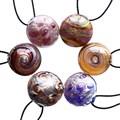 Murano Glass Round beads Pendant Necklace Jewelry Drop Shipping new arrive Handmade Wholesale Mix Color 2015 Lampwork