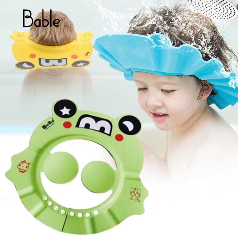 Детская шапочка для душа с защитными ушами, детские шапки, прочные