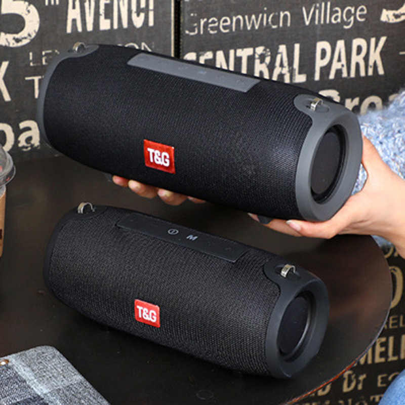 Bluetooth Speaker 10W Stereo Musik Portable Wireless Speaker Outdoor Tahan Air Subwoofer FM Radio Boom Box AUX Tf Usb Soundbar