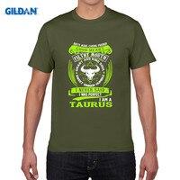GILDAN Pure Cotton Round Collar T Shirt Taurus Zodiac Signs Funny Quote Never Perfect Men S