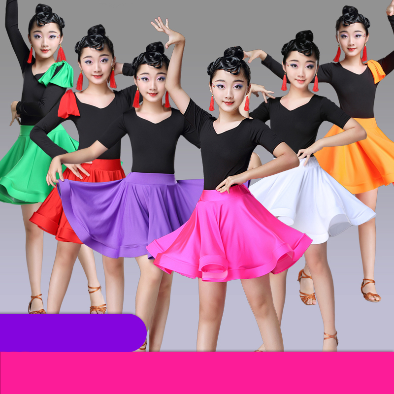 Girls Latin Dance Jazz Dance Costumes Spring And Summer Children's Dance Grading Practice Clothes Ballroom Dance Dresses