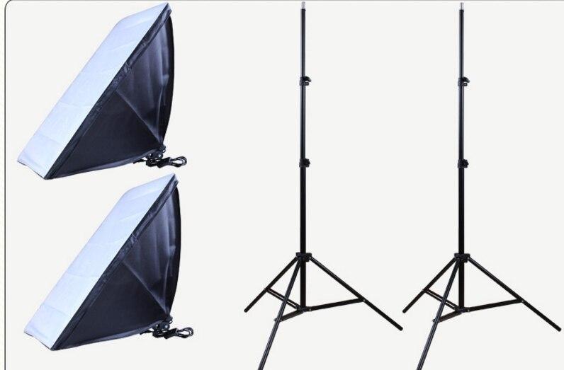 Hot Sell Photo Studio Set 2 X Lighting Stand +2 X Soft Box Photo Studio Kit Photography Studio Portrait Product декор adex studio relieve ponciana timberline 2 5x19 8