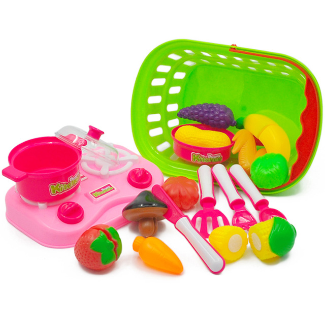 kids play kitchen accessories cafe curtains vegetable plastic high quality miniature food fruit toy cooking toys