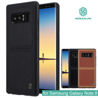 For Samsung Galaxy Note 8 Nillkin Burt Business Style Hard Luxury Leather Back Cover Case For