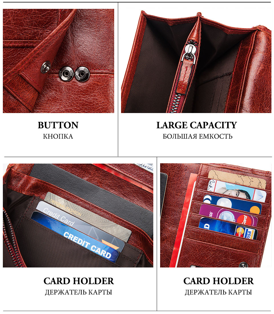 HTB12KpuK4naK1RjSZFtq6zC2VXaD - GZCZ RFID Leather Women Clutch Wallet Fashion Long Style Female Coin Purse Portomonee Clamp For Phone Bag Ladies Handy Purse