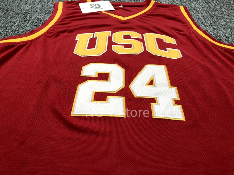 2a08be108a8 ... usc trojans basketball jersey Brian Scalabrine  24 USC Trojans College  Throwback ...