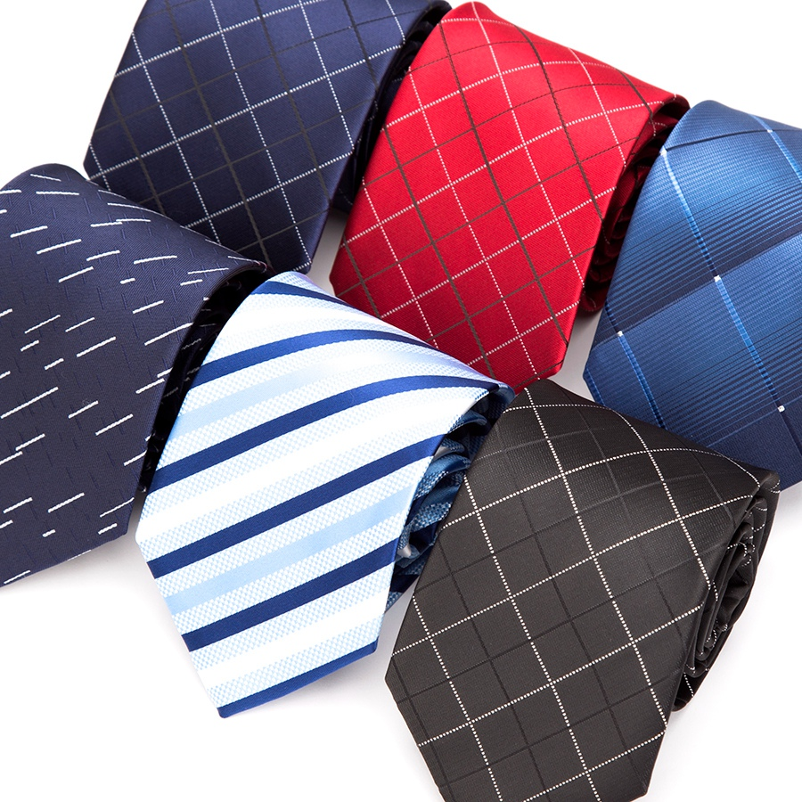 Men Tie Formal Business Wedding Ties for Men Stripe Dress Classic Jacquard Woven Plaid Striped BowTie Shirt Accessories Necktie