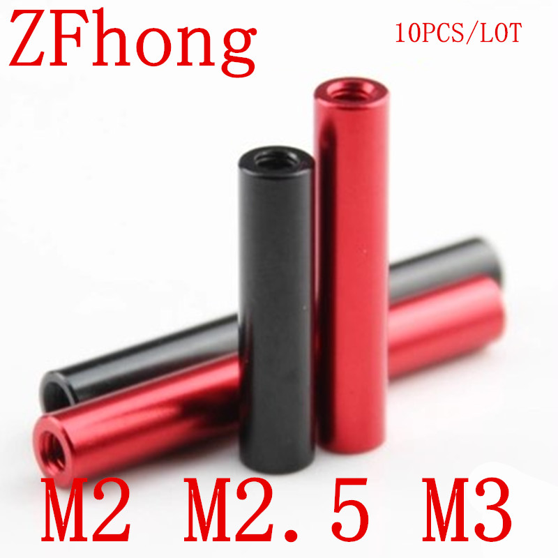 10 Pcs M2 M2.5 M3 Rood Of Zwart Ronde Aluminium Standoff Spacer Voor Rc Multirotors