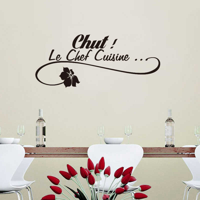 French Le Chef Cuisine Removable Vinyl Wall Sticker Decals Mural Art Wallpaper For Kitchen Home Decor House Decoration
