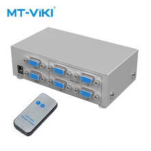 MT-VIKI 2 VGA Input 4 VGA Output Video Switch Splitter Computer Optional Selector Image Splitter Infrared Remote Contro MT-204CB ekl 4x input 2x output vga splitter switch with remote ir controller 4 way switcher resolution 1920x1440