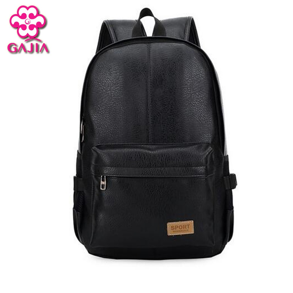 European and American style Solid high quality leather backpack Men's shoulder bag Schoolbag computer Travel bag Free shipping