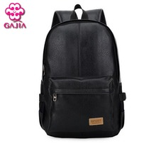 Schoolbag american european computer solid backpack style travel shoulder and leather
