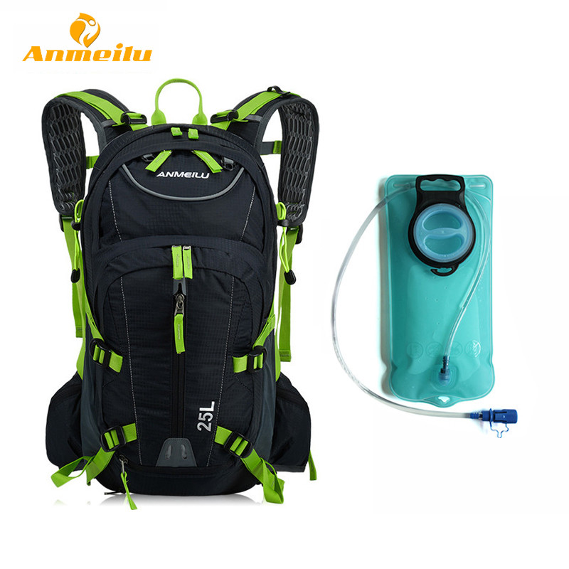 2017 ANMEILU Bicycle Bike Bag Waterproof MTB Ciclismo  Camelback Outdoor Bladder Cycling Backpack Hydration Pack + 2L Water Bag hp p242va