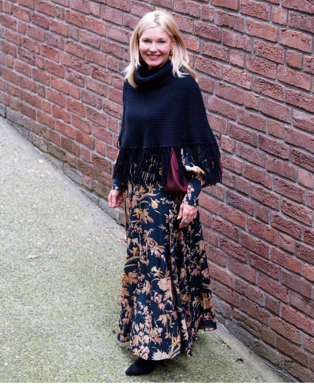 27463b6a0d175 US $206.0 |Aliexpress.com : Buy Women Silk Black Jonquil Floral print Long  Blouson Sleeves Unbridled Basque Bias Cut Maxi Dress from Reliable Dresses  ...