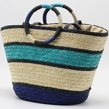 JHD-Fringed Straw Women'S Bag Summer Rattan Shoulder Bag Han