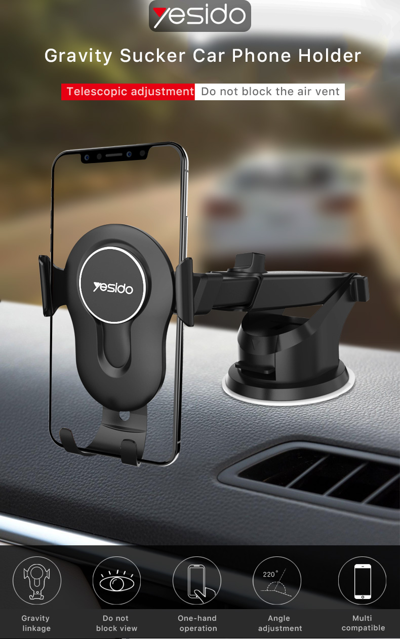 Sucker Gravity Car Phone Holder (1)