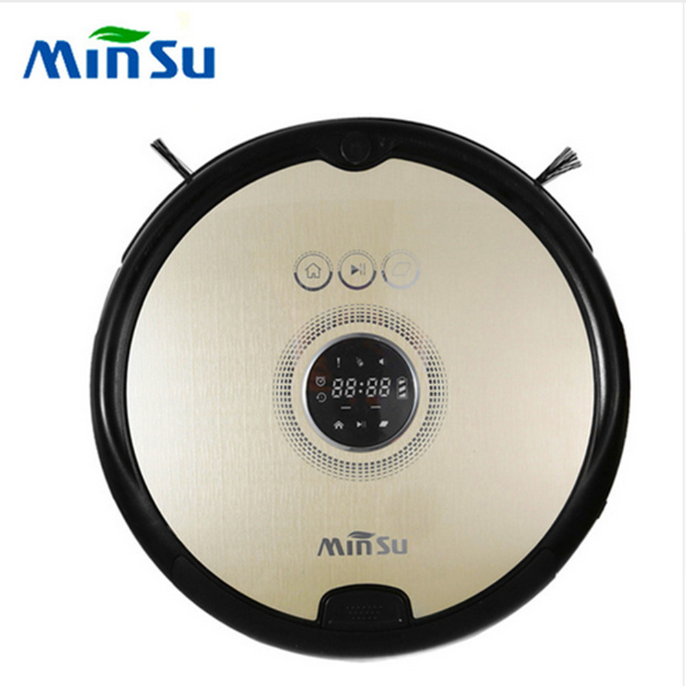 MinSu TR2015 Smart Robot Vacuum Cleaner Dry Wet Cleaning Machine Auto Recharge 4 Cleaning Modes Vacuum Cleaning Mi Robot