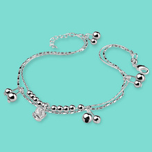 Womens 925 sterling silver anklets creative Crown pendant design lady popular foot Silver jewelry Solid chains best gift