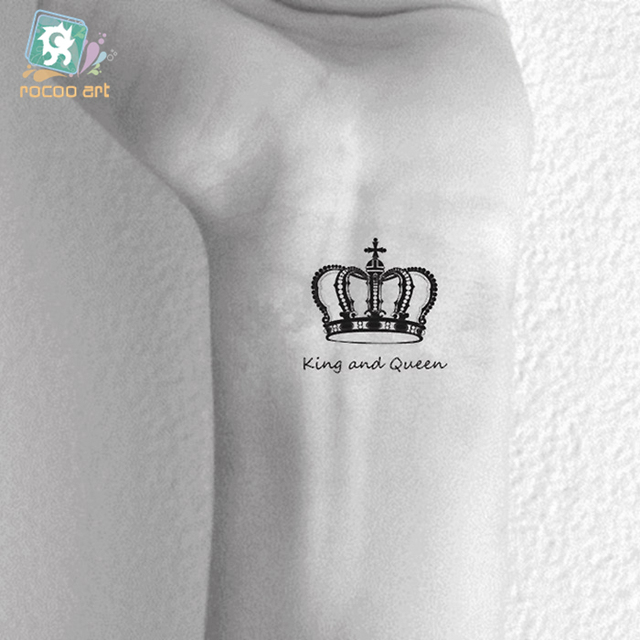 HC-130 Waterproof Temporary Tattoo Stickers Fashion Imperial Crown Fast Fake Tattoo Small Scars Cover Body Art Tattoo Stickers