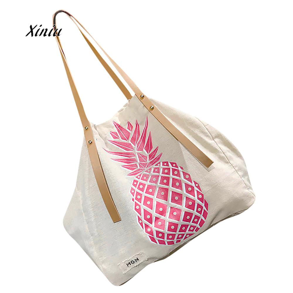 Us 7 18 32 Off Women Bags New Fashion Canvas Shoulder Bag Pinele Print Handbag Tote High Quality Female Per In