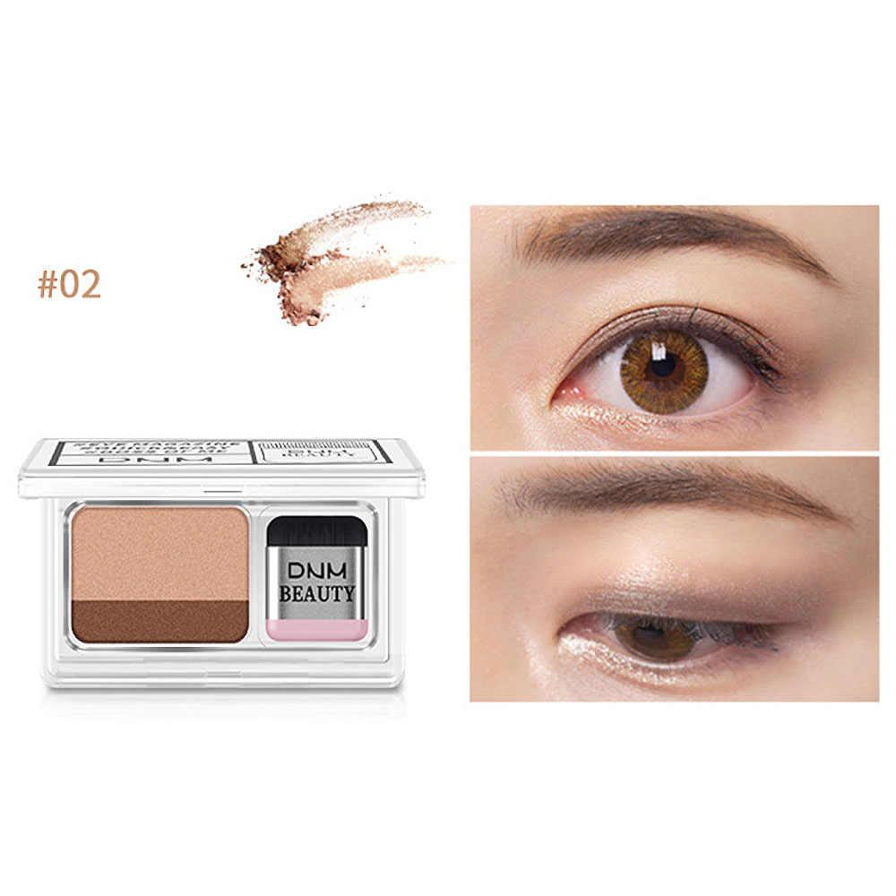 Lazy Eye shadow палитра корейский стиль Косметика матовое мерцание два цвета Тени для век штамп Палитра с кисточкой телесный макияж набор
