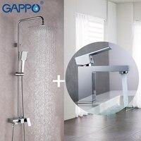GAPPO для ванны, смеситель для комплект бронза площадь ванной смеситель для душа душевой кран нержавеющей насадка для душа стены смесители