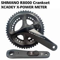 2018 Newest SHIMANO ULTEGRA R8000 POWER Crankset XCADEY X POWER METER Crank 170mm 172.5mm Crankset 52 36T 50 34T 53 39T