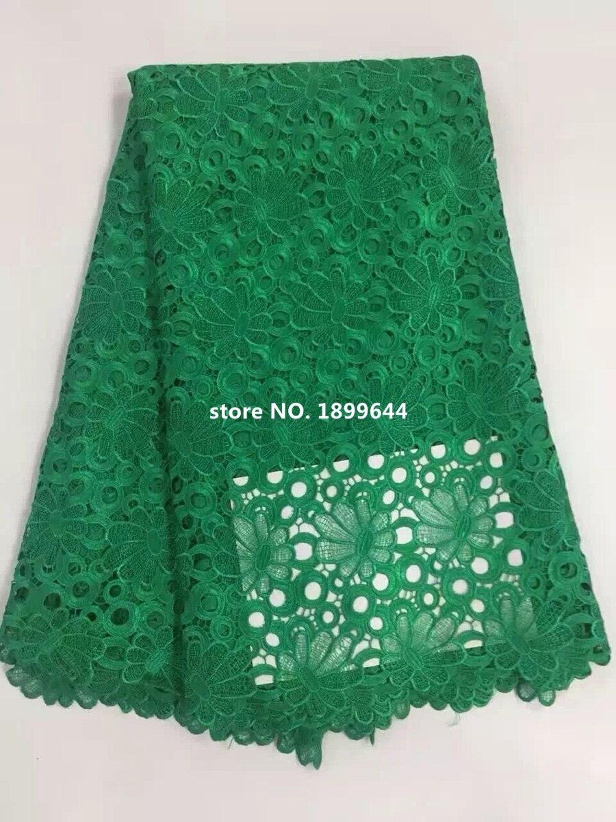 Новое поступление; Красивая водорастворимым кружевной ткани модные яркие красивые африканские кружевной ткани для женщин платье. ML866