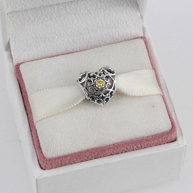 ac33836eb8fcaf Zmzy monili dell'argento sterlina 925 cuore Novembre birthstone incanta i  branelli adatto pandora charms