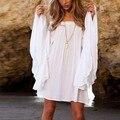 Nuevas Mujeres Atractivas Del Verano de Boho Vestidos de Corto Mini Vestido de Partido de la Playa Blanca