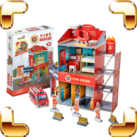 New Year Gift Fire Rescue 3D Puzzles Model DIY Assemble Toys Educational Learning Game Decoration Kids Family Handmade Present