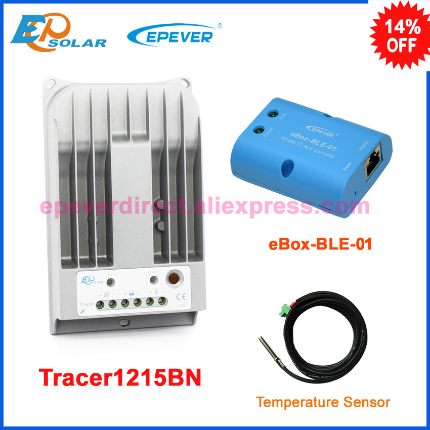 mppt controller 10A 10amp Tracer1215BN Max PV input 150v EPEVER solar battery charging controller bluetooth funciton and sensor