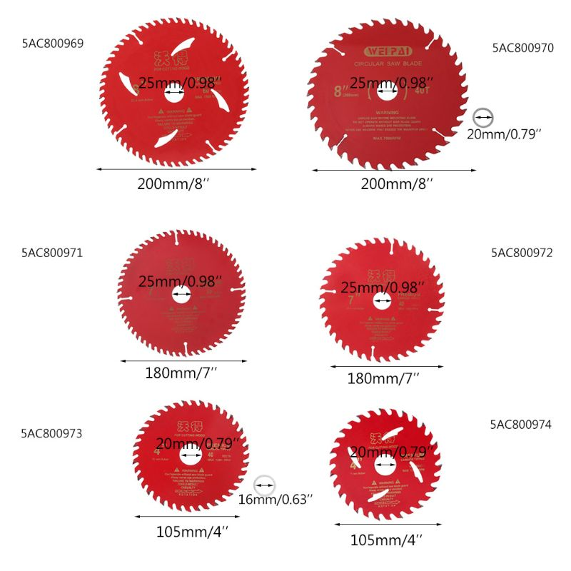 4/7/8 Inch Cemented Carbide Circular Saw Blade 105mm/180mm/200mm 30/40/60 Teeth Wood Cutting Tool Woodworking Bore 2019