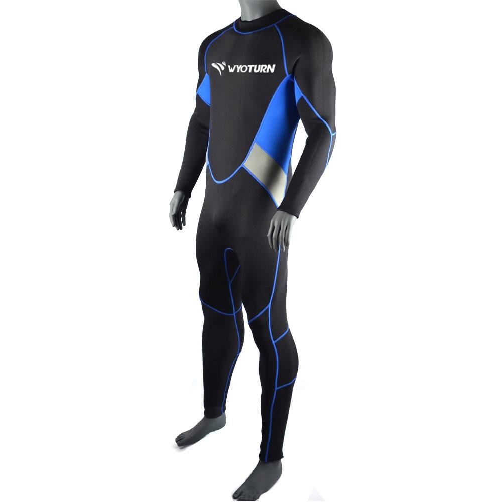WYOTURN 3MM Neoprene Diving Suit Men Pesca Diving Spearfishing Wetsuit Surf Snorkel Swimsuit Full Swimwear Combinaison