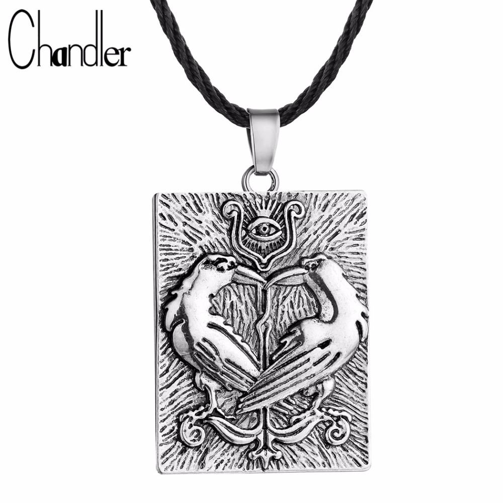 Online shop chandler valknut norse vikings odins symbol huginn online shop chandler valknut norse vikings odins symbol huginn munin ravens eye pendant necklace double bird square charm rope chain colier aliexpress biocorpaavc