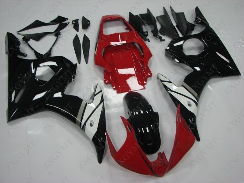 Abs Carénage YZF600 R6 2003-2005 Noir Rouge Blanc Kits De Carrosserie pour YAMAHA YZFR6 03 05 Carrosserie YZF600 R6 04 05