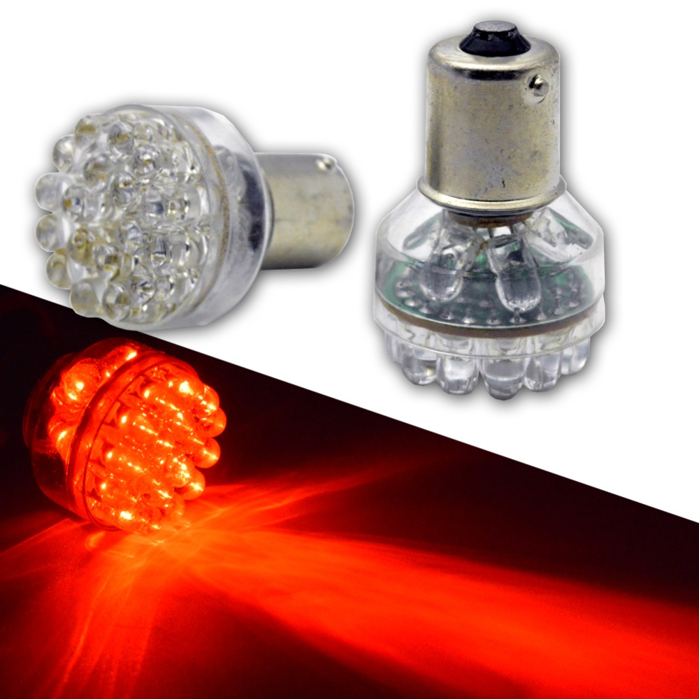 2pcs RED 1156 ba15s P21w 24 led DIP DC 6V 12V 24V DRL bulb RV Trailer Truck car styling Light parking Auto led Car lamp