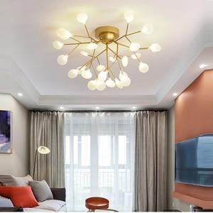 Image 2 - Modern LED Ceiling Chandelier Lighting Living Room Bedroom Chandeliers Creative Home Lighting Fixtures AC110V/220V Glass shade