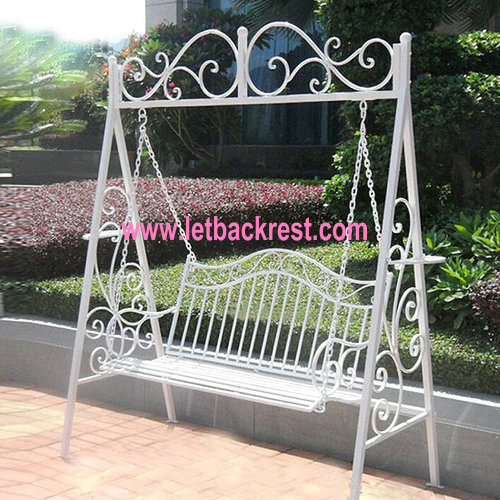 china wholesale wrought iron garden chairs swing chair in restaurant