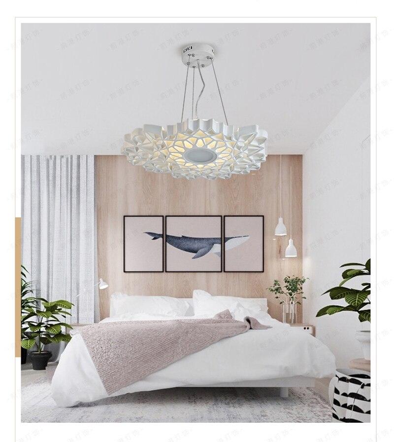 Nordique nid d'abeille lustre post-moderne personnalité créative paon motif salle à manger salon chambre couloir bar simple lampe