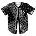 Fleek 15 Jersey de Verano Estilo con botones de impresión 3d Hip Hop Streetwear hombres camisetas tops camisa del béisbol OUTWEAR CAMISETAS