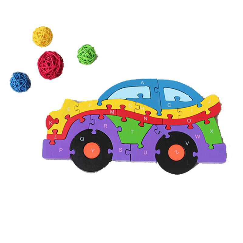 HIINST kids educational toys 2017 Baby Kids Training Alphanumeric baby brain Training cognitive building Puzzle Car*R Drop