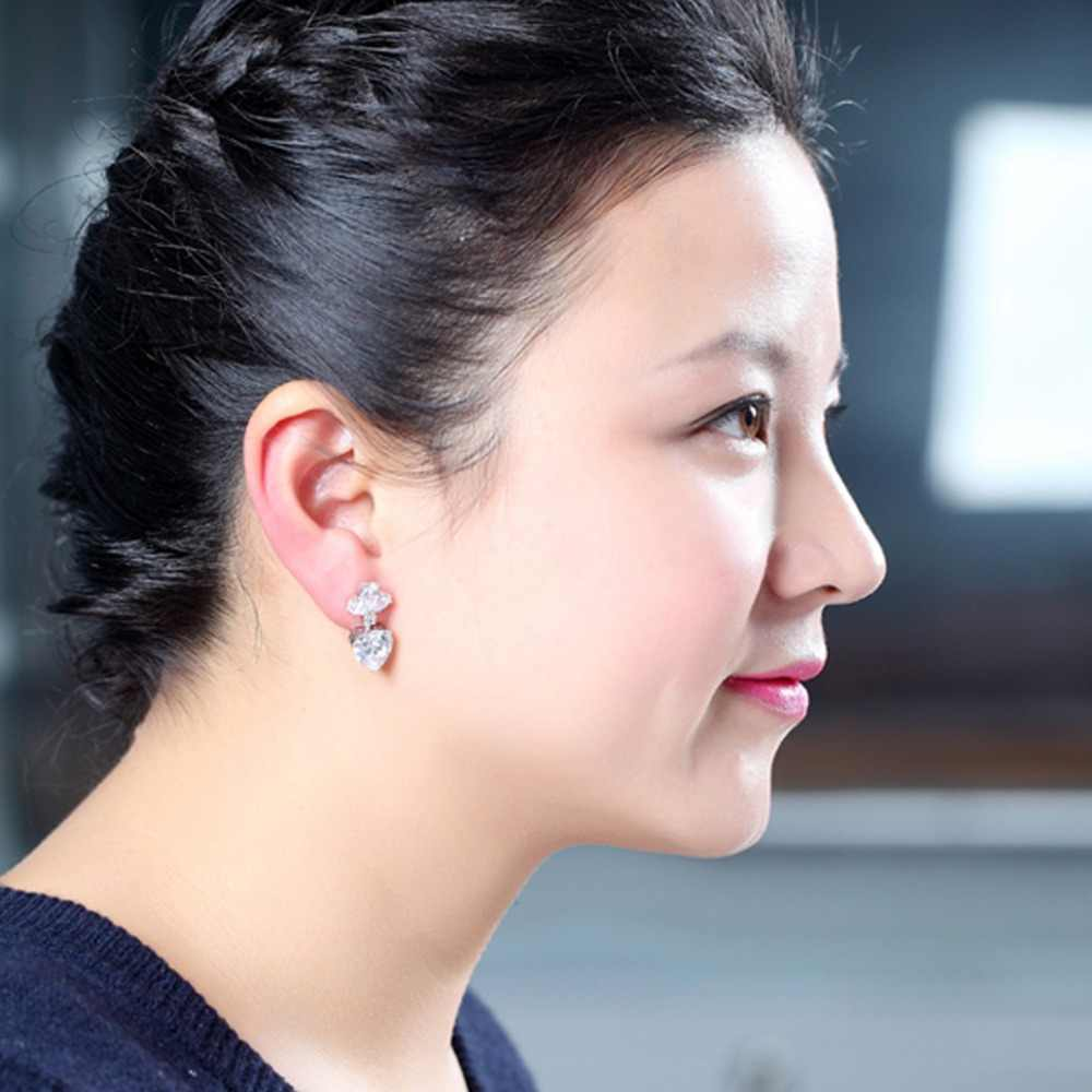 Yiwu LUOTEEMI Merek Anting Fashion Mewah Batal Zircon Earrings untuk Wanita Bridal Pernikahan Drop Earrings Perhiasan Aksesoris