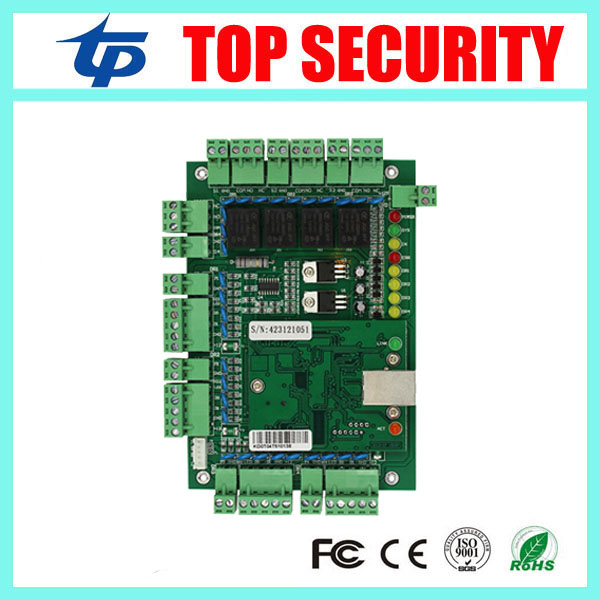 TCP/IP 4 doors 30000 users door access control panel four doors smart card RFID card MF card access control board system tcp ip network l04 intelligent four door one way door access control panel for four door control support english software